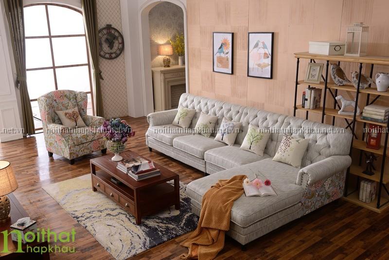 sofa tân cổ điển Châu Âu 3073