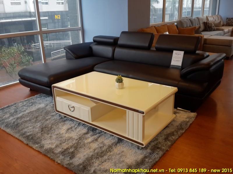 Sofa da 269 màu nâu