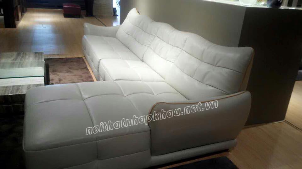 Mẫu sofa da B816 màu trắng