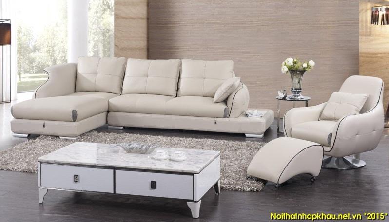 Sofa da S-368 tuyệt đẹp cho phòng khách gia đình bạn