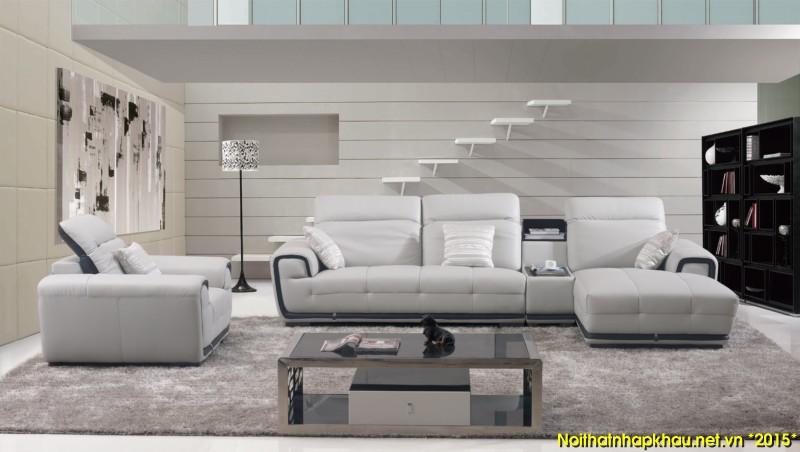 Lựa chọn ghế sofa da cho nội thất phòng khách hiện đại