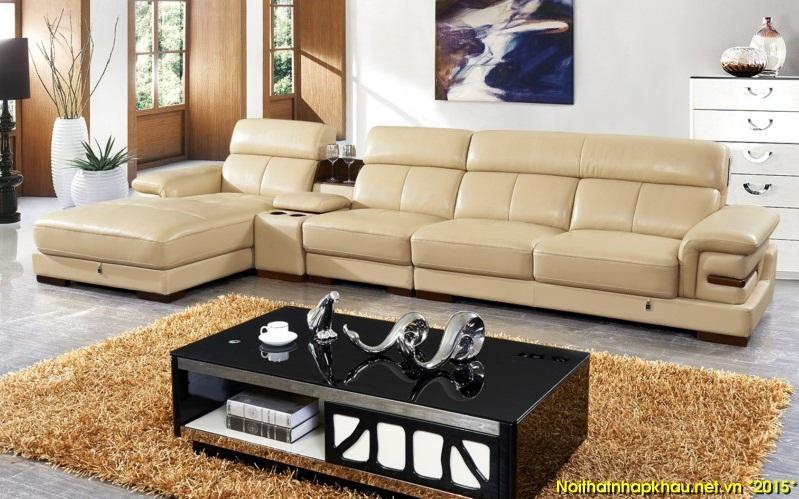 Ghế sofa da đẹp cho không gian thêm phần sang trọng