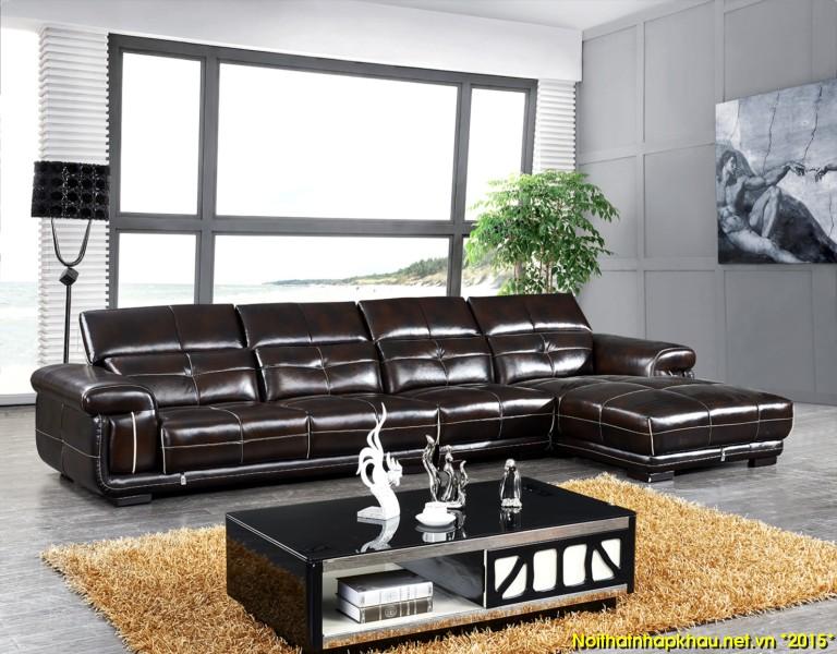 Bộ ghế sofa kết hợp thảm trải sàn sang trọng