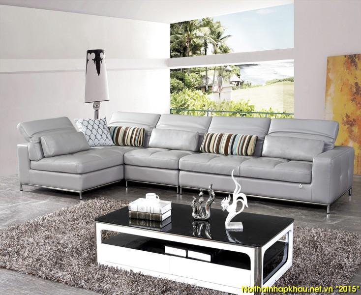 Ưu điểm tuyệt vời của ghế sofa da góc trong phòng khách