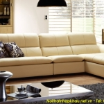 Sofa phòng khách đẹp chất liệu da cao cấp