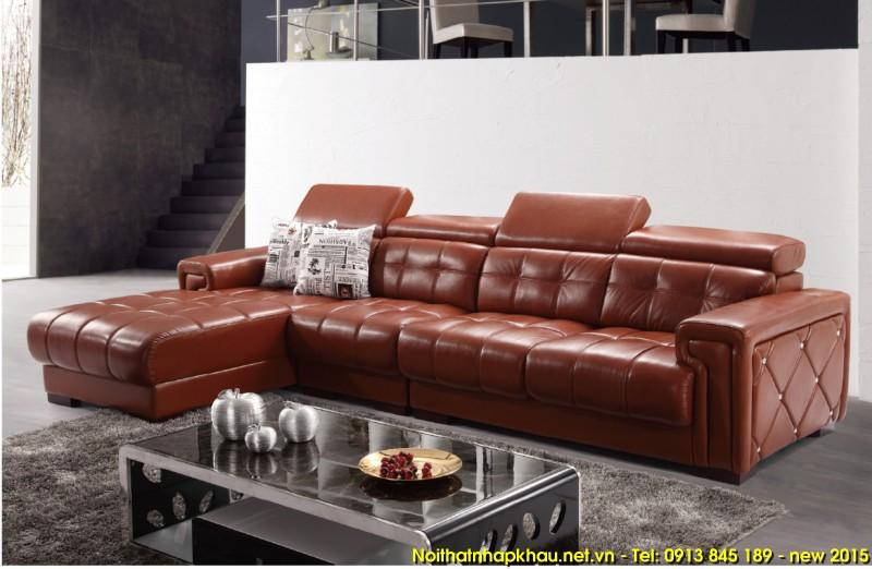 Bộ ghế sofa phòng kháchcao cấp gam màu đỏ mận