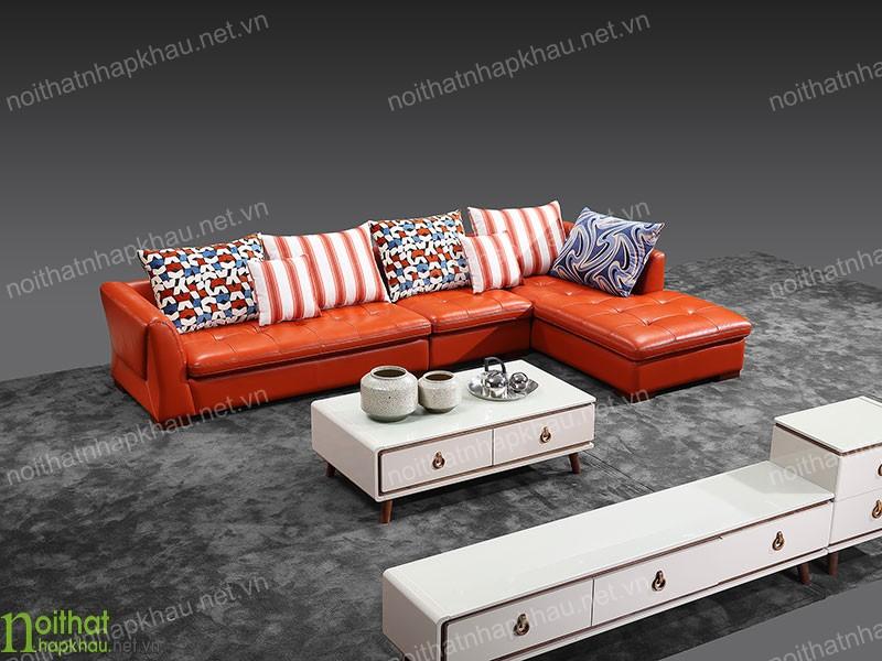 Bộ sofa góc L được thiết kế với màu sắc lôi cuốn