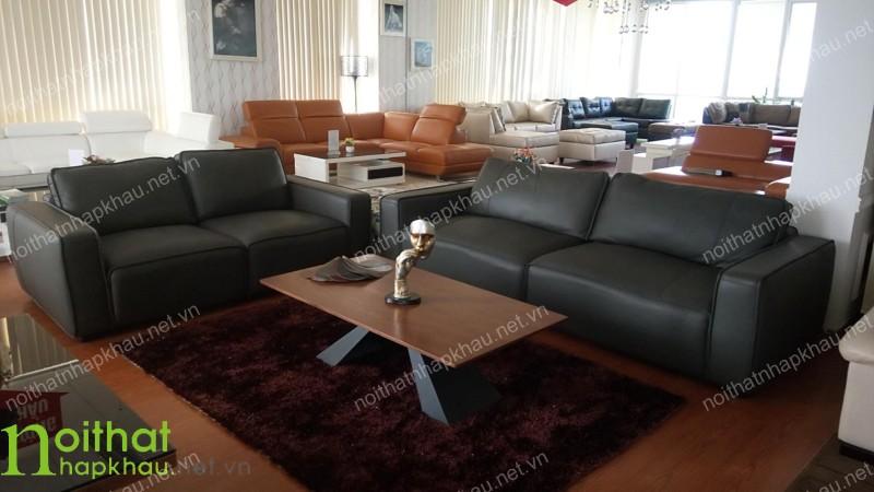 Bộ ghế sofa Malaysia nhập khẩu làm từ chất liệu da bò thật
