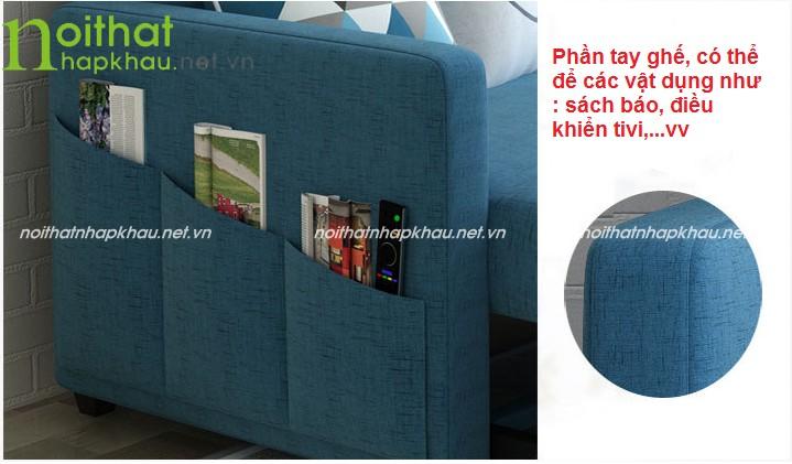 Bên cạnh tay ghế có thể chứa đồ rất tiện dụng