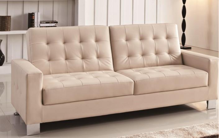 Ghế sofa giường đa năng, tiện dụng bọc da mềm mại