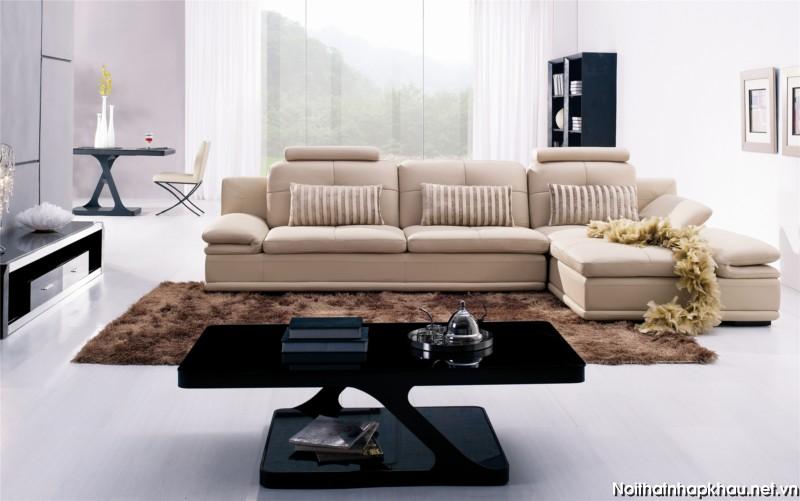 Sofa góc nhập khẩu phù hợp với căn hộ chung cư nhỏ