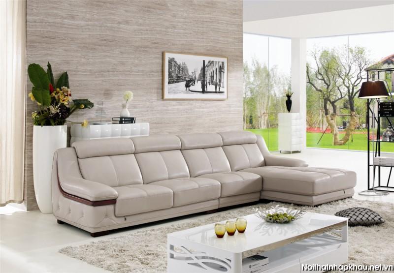 Mẫu sofa tận dụng tối đa diện phần tường nhà với thiết kế khéo léo và tinh tế