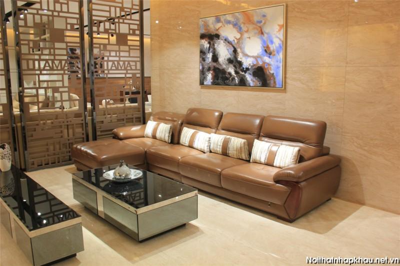 Sofa góc nhỏ phù hợp với chung cư có diện tích hẹp