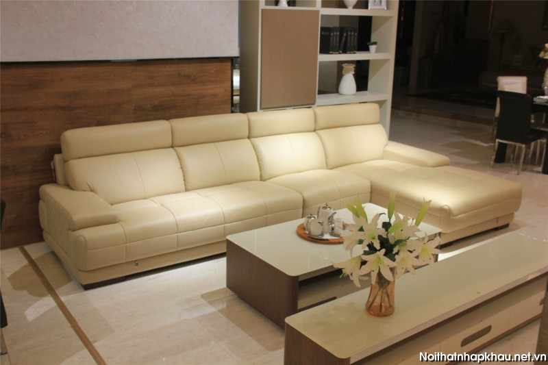 Bộ sofa da nhập khẩu cao cấp