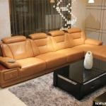 Ghế sofa da bò thật ở phần tiếp xúc