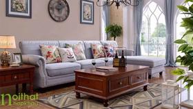 sofa góc phong cách Châu Âu 3016