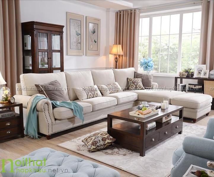 sofa góc phong cách châu âu 3077