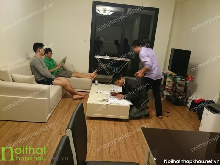 Sofa nhập khẩu 4S018 khung gỗ