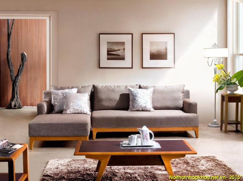 Ghế sofa phòng khách khung gỗ nhập khẩu