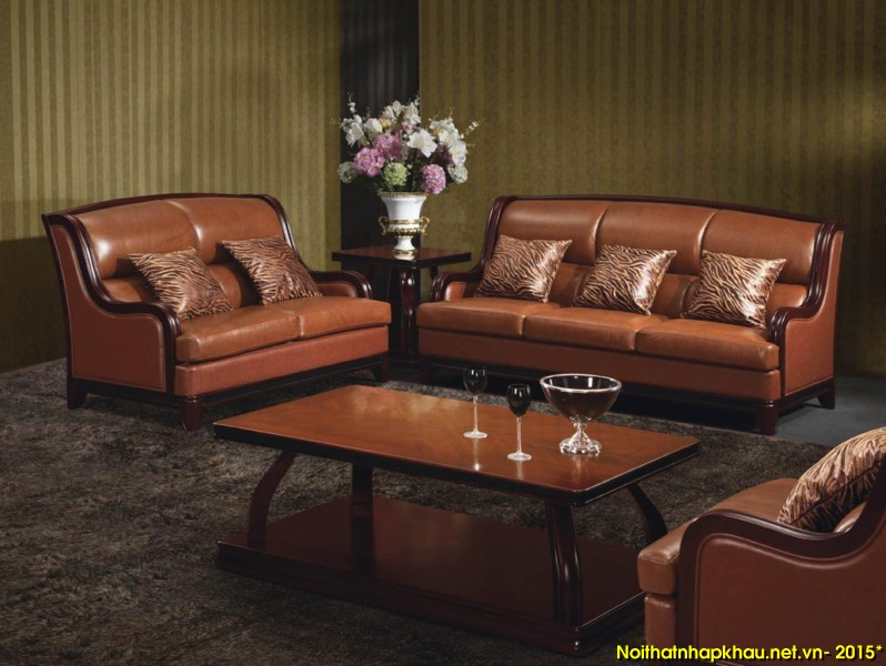 Bộ bàn ghế sofa gỗ sang trọng được nhiều gia chủ yêu thích