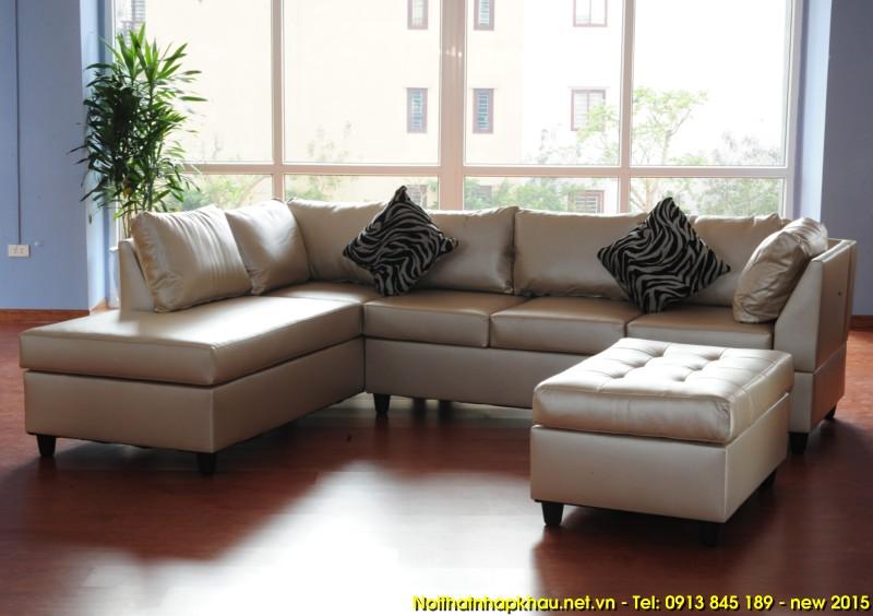 Sofa da 9909-màu trân châu