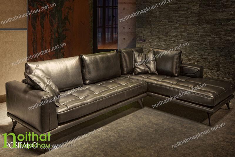 Ghế sofa phòng khách da thật nhập khẩu Malaysia