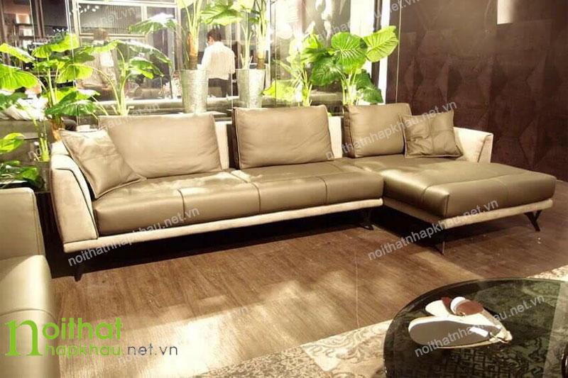 Lựa chọn ghế sofa da thật 100% cho phòng khách thêm sang trọng