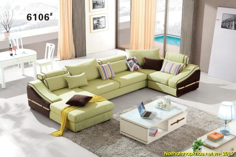 Sofa nỉ nhập khẩu 6106