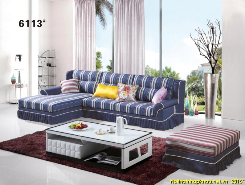 Sofa nỉ nhập khẩu 6113