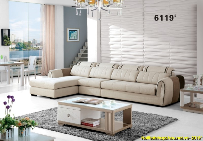 Sofa nỉ nhập khẩu 6119