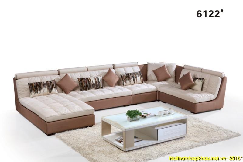 Sofa nỉ nhập khẩu 6122