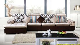 Sofa nỉ nhập khẩu 6123