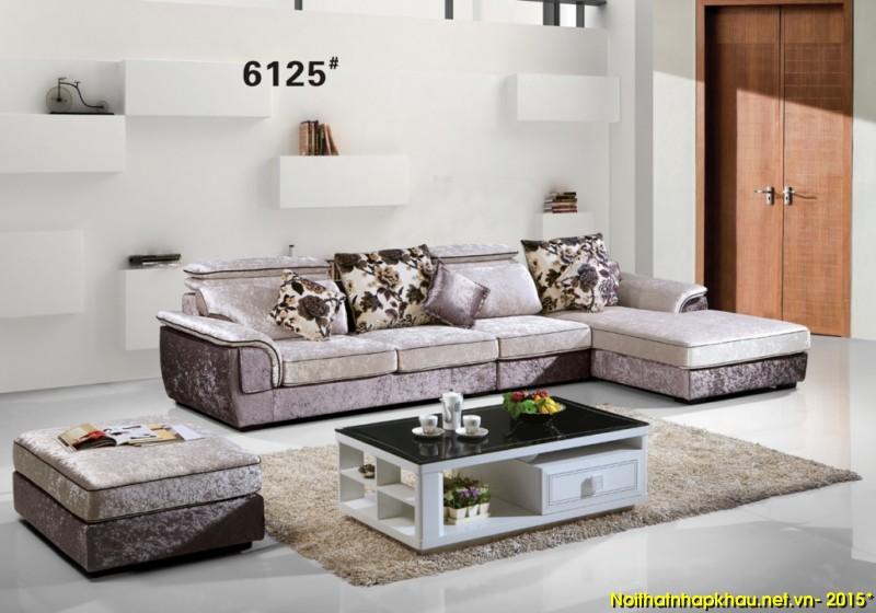 Sofa nỉ nhập khẩu 6125