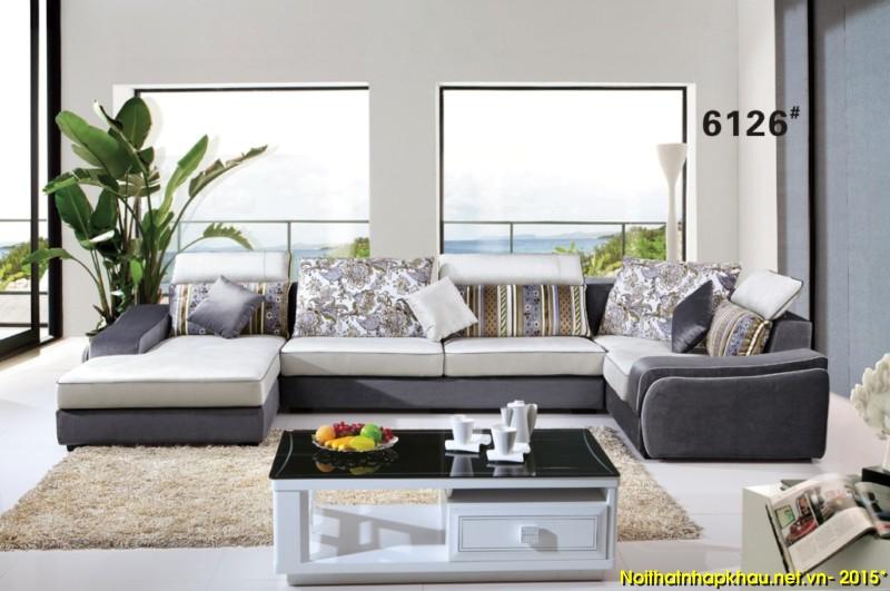 Sofa nỉ nhập khẩu 6126
