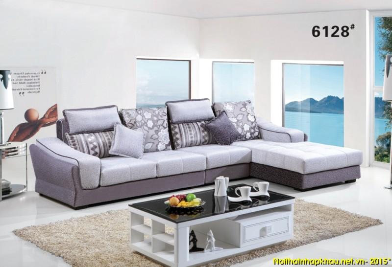 Sofa nỉ nhập khẩu 6128