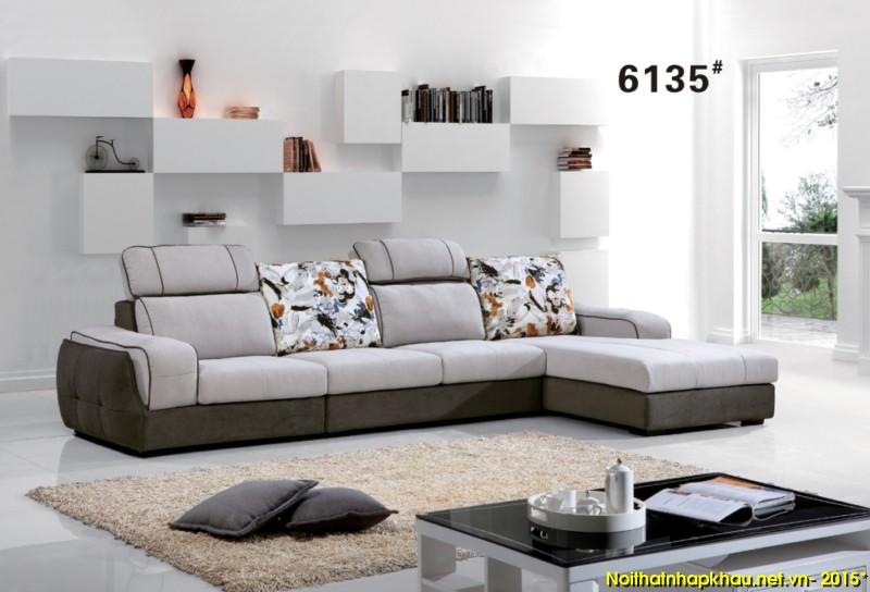 Ghế sofa nỉ góc chữ L hiện đại