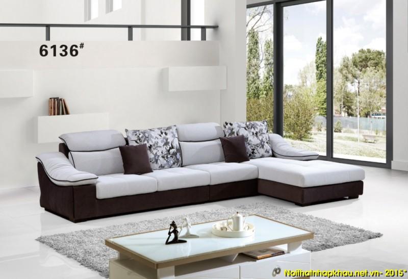 Sofa nỉ nhập khẩu 6136