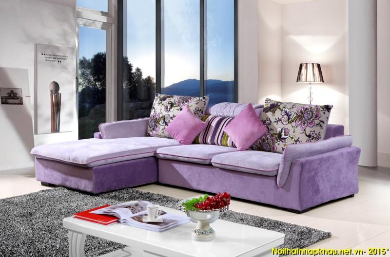Sofa nỉ nhập khẩu 6140