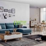 Sofa vải phong cách Bắc Âu LS-fs04