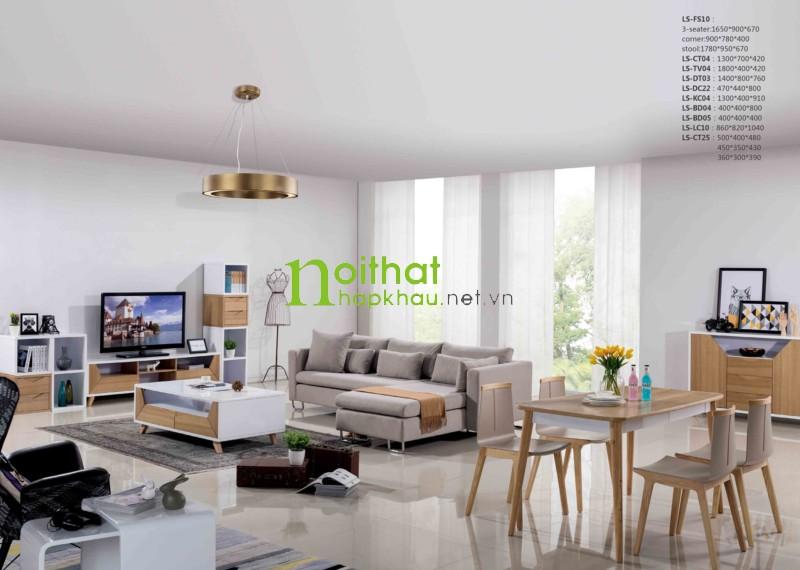 Sofa vải phong cách Bắc Âu LS-FS10