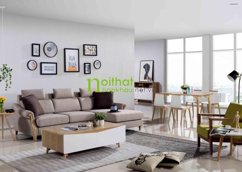 sofa nỉ phong cách bắc âu LS-FS905