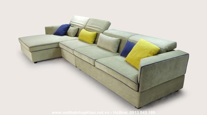 Sofa nỉ nhập khẩu 8021