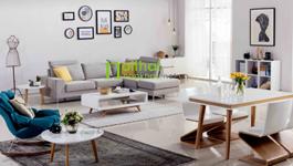 Sofa vải phong cách Bắc Âu LS-FS07