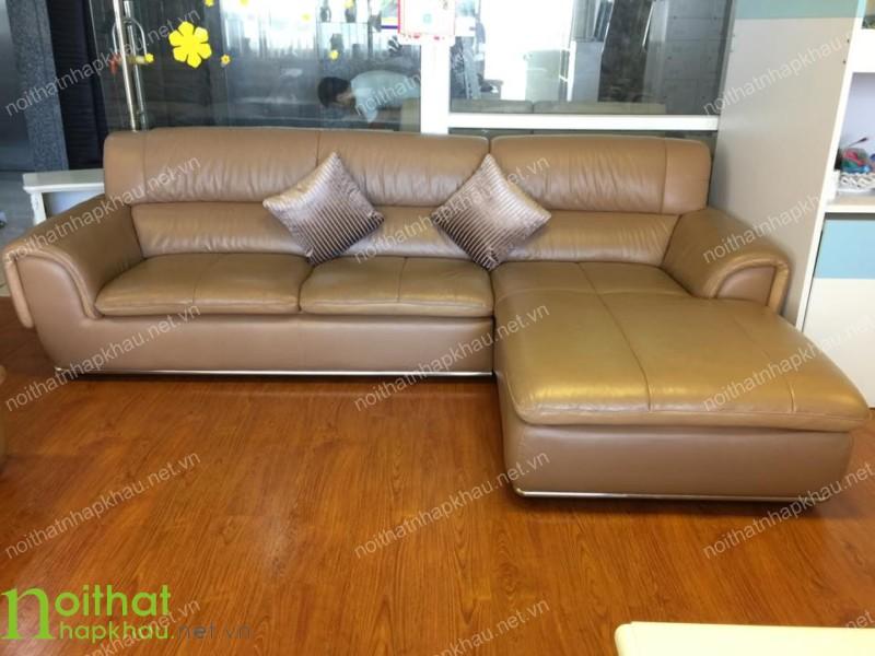 Ghế sofa da màu nâu sang trọng