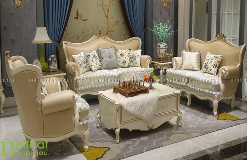 Sofa tommy sơn ngọc trai cổ điển cao cấp 168