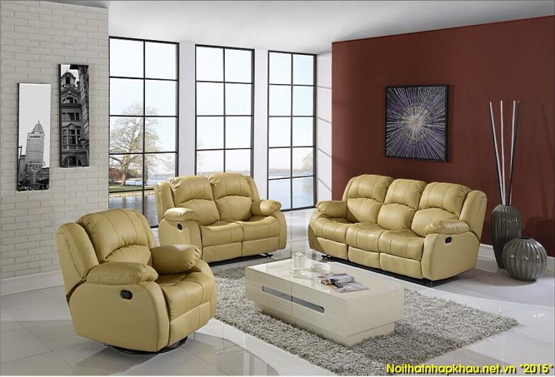 Khám phá ghế sofa da thật nhập khẩu có tính năng thư giãn
