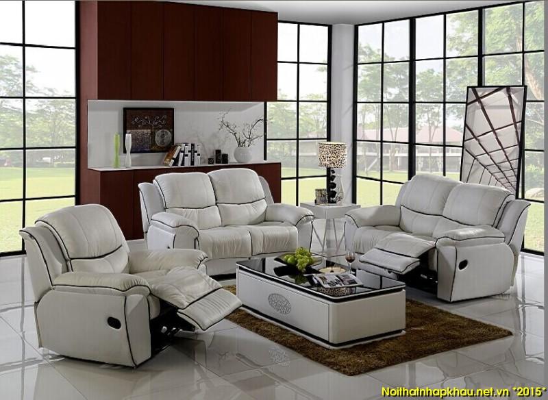 Bộ ghế sofa da hoàn hảo hơn với tính năng thư giãn