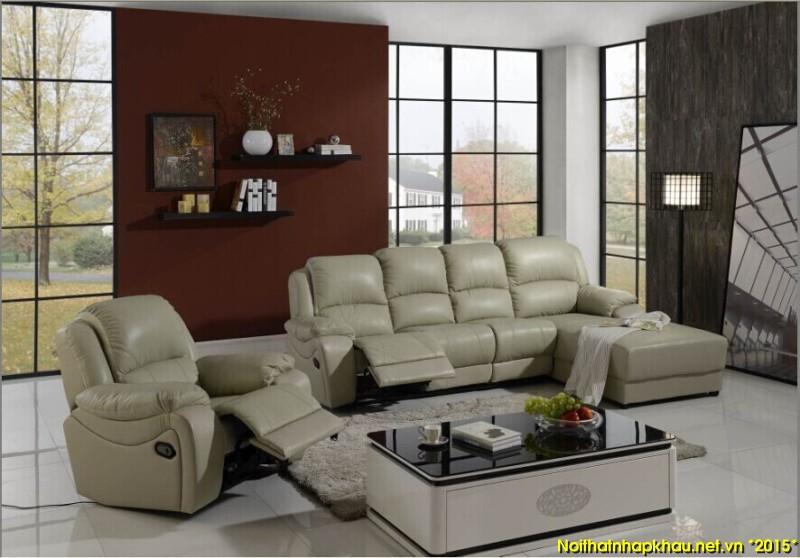Phòng khách nhỏ vớibộ ghế sofa thư giãn đa năng