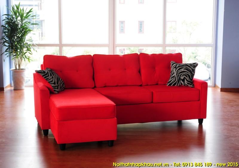 Sofa xuất khẩu 1425- đỏ