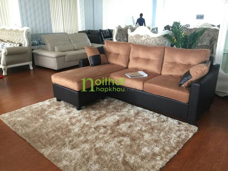 Sofa xuất khẩu 1425 xi da bò